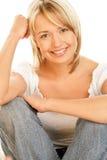 De vrouw van de schoonheid het glimlachen Royalty-vrije Stock Afbeeldingen