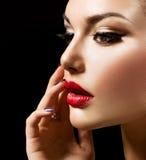 De Vrouw van de schoonheid stock foto's