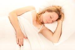 De vrouw van de slaap Royalty-vrije Stock Afbeelding