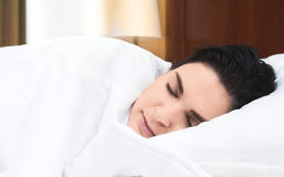 De vrouw van de slaap Stock Afbeelding