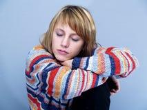 De vrouw van de slaap Stock Foto