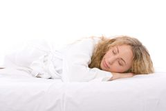 De vrouw van de slaap Royalty-vrije Stock Foto's