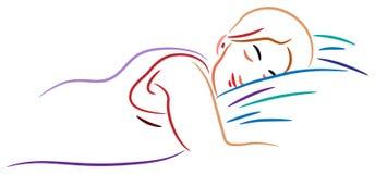 De vrouw van de slaap royalty-vrije illustratie