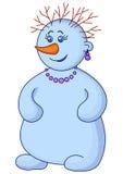 De vrouw van de sneeuwbal met haar Royalty-vrije Stock Foto's