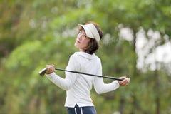De Vrouw van de Speler van het golf Royalty-vrije Stock Foto's