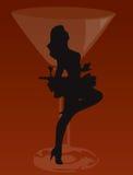 De vrouw van de staaf het dansen Royalty-vrije Stock Afbeeldingen