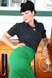 De Vrouw van de Stijl van Pinup Royalty-vrije Stock Afbeeldingen