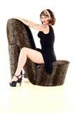 De Vrouw van de Stijl van Pinup royalty-vrije stock afbeelding