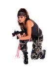 De Vrouw van de strijder Royalty-vrije Stock Fotografie
