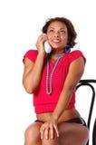 De Vrouw van de telefoon Stock Afbeeldingen