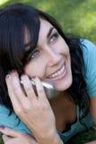 De Vrouw van de telefoon Stock Foto's