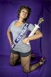 De vrouw van de trofee Royalty-vrije Stock Fotografie