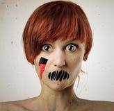 De vrouw van de verschrikking Stock Foto