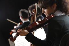 De vrouw van de violist Stock Foto's