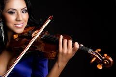 De Vrouw van de viool Royalty-vrije Stock Afbeeldingen