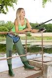 De vrouw van de visser royalty-vrije stock afbeelding