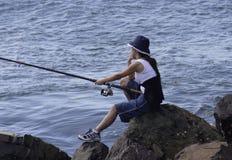 Vissersvrouw royalty-vrije stock foto's