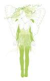 De vrouw van de vlinder Stock Afbeelding