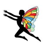 De vrouw van de vlinder royalty-vrije illustratie