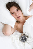 De Vrouw van de Wekker royalty-vrije stock foto's