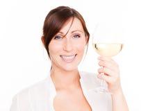 De vrouw van de wijn Royalty-vrije Stock Foto's