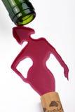 De vrouw van de wijn Stock Foto's