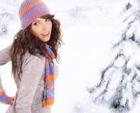 De vrouw van de winter Royalty-vrije Stock Afbeeldingen