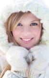 De vrouw van de winter Stock Afbeeldingen