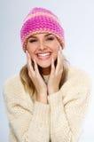 De vrouw van de winter Stock Afbeelding