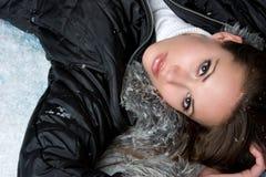 De Vrouw van de winter royalty-vrije stock afbeelding