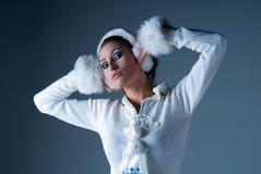 De Vrouw van de winter Royalty-vrije Stock Foto