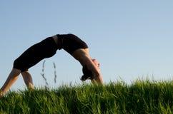 De vrouw van de yoga. Royalty-vrije Stock Afbeeldingen