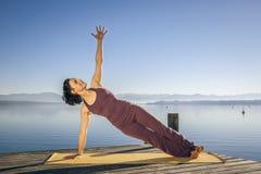De vrouw van de yoga Stock Afbeelding