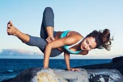De vrouw van de yoga Royalty-vrije Stock Afbeelding