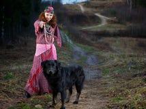 De Vrouw van de zigeuner stock foto