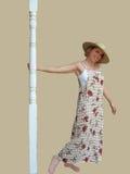 De Vrouw van de zomer Stock Foto's