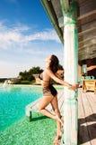 De vrouw van de zomer Stock Foto