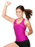 De vrouw van de zumbageschiktheid van de aerobics Stock Foto's