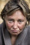 De vrouw van de zwerver Stock Foto's