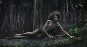 De vrouw van Eco stock foto's