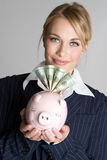 De Vrouw van financiën Royalty-vrije Stock Fotografie
