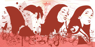 De vrouw van Grunge vector illustratie