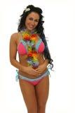 De vrouw van Hawaï Stock Afbeelding