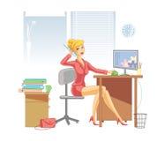 De vrouw van het bureau Royalty-vrije Stock Afbeeldingen