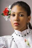 De vrouw van het flamenco Royalty-vrije Stock Foto's