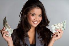 De Vrouw van het geld Stock Foto's