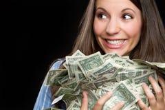 De Vrouw van het geld stock afbeelding