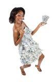 De vrouw van het geld Royalty-vrije Stock Foto's