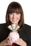 De Vrouw van het geld royalty-vrije stock foto