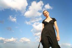 De vrouw van het geluk Stock Fotografie